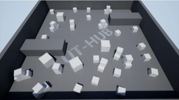 escena llena de cubos UE5