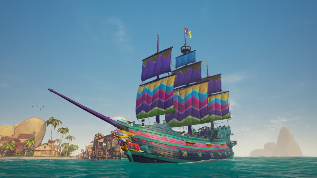 Barco Arcoiris Sea Of Thieves