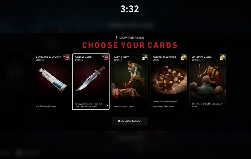 cartas back 4 blood